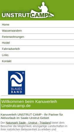 Vorschau der mobilen Webseite www.unstrutcamp.de, Unstrutcamp Inh. Chris Dabbert