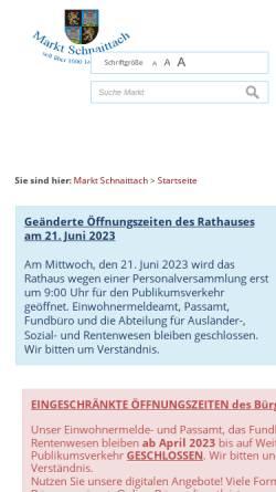 Vorschau der mobilen Webseite www.schnaittach.de, Markt Schnaittach
