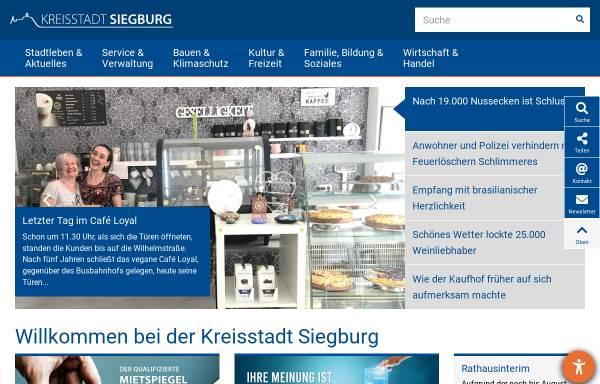 Vorschau von www.siegburg.de, Siegburg