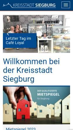 Vorschau der mobilen Webseite www.siegburg.de, Siegburg