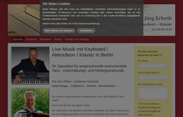 Vorschau von www.alleinunterhalter-berlin.eu, Erfurth, Jörg
