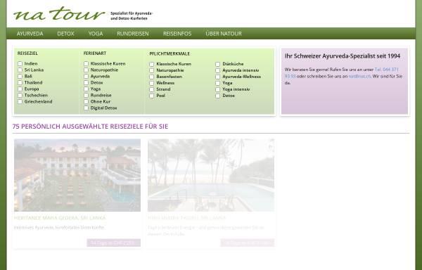 Vorschau von www.natour.ch, NaTour