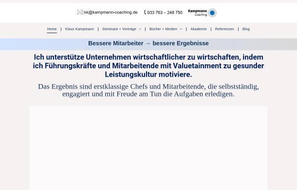 Vorschau von www.kampmann-coaching.de, Kampmann Coaching