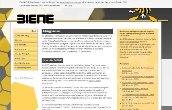 Vorschau von www.biene-award.de, BIENE-Award