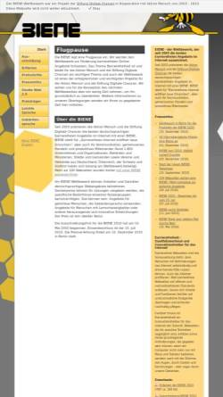 Vorschau der mobilen Webseite www.biene-award.de, BIENE-Award