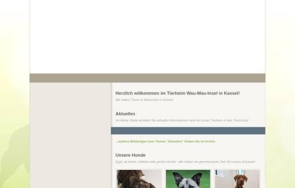 Vorschau von ssl.kundenserver.de, Tierheim Wau-Mau-Insel Kassel