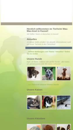Vorschau der mobilen Webseite ssl.kundenserver.de, Tierheim Wau-Mau-Insel Kassel