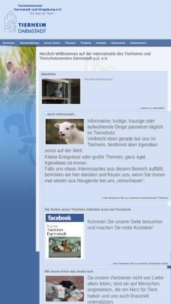 Vorschau der mobilen Webseite tsv-darmstadt.de, Tierschutzverein Darmstadt e.V.
