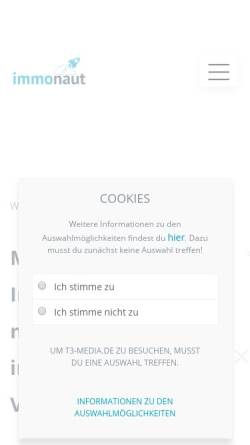 Vorschau der mobilen Webseite www.immobilienmakler-homepage-24.de, Silke Hoppe & Mark-Oliver Kaemmerer GbR