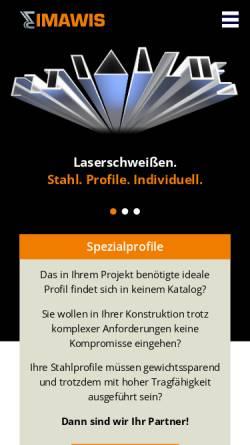 Vorschau der mobilen Webseite www.imawis.de, IMAWIS GmbH