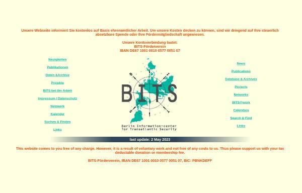 Vorschau von www.bits.de, BITS - Berliner Informationszentrum für transatlantische Sicherheit