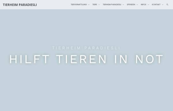 Vorschau von www.tierheim-paradiesli.ch, Tierheim Paradiesli in Ob- und Nidwalden