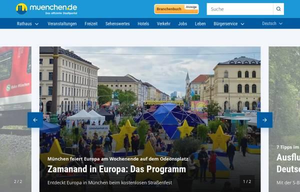 Vorschau von www.muenchen.de, München