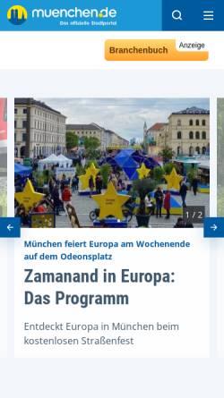 Vorschau der mobilen Webseite www.muenchen.de, München