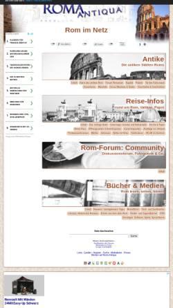 Vorschau der mobilen Webseite www.roma-antiqua.de, Roma Antiqua