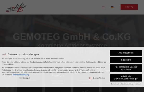 Vorschau von www.gemoteg.de, Gemoteg GmbH + Co KG