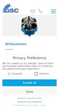 Vorschau der mobilen Webseite www.gsc-schwoerer.de, GSC-Schwörer GmbH