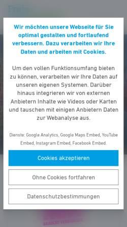 Vorschau der mobilen Webseite fdp-of.de, FDP Offenbach am Main