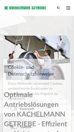Vorschau der mobilen Webseite www.kachelmann.de, Kachelmann Getriebe GmbH