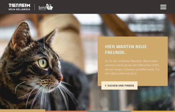 Vorschau von tierheim-dellbrueck.de, Tierheim Köln-Dellbrück