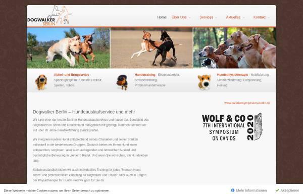 Vorschau von www.dogwalker-berlin.de, Dogwalker Berlin