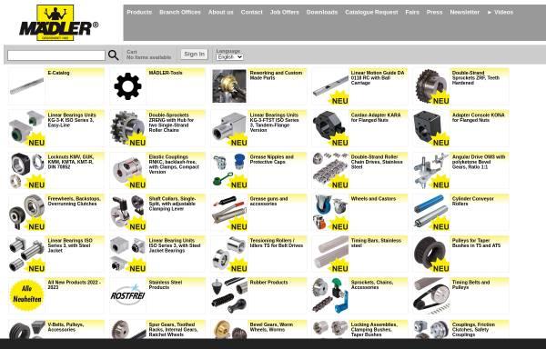 Vorschau von www.maedler.de, Mädler GmbH - Antriebselemente und Normteile