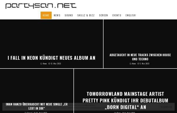 Vorschau von www.partysan.net, Partysan.net