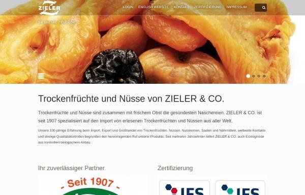 Vorschau von zieler.de, Zieler & Co. Trockenfrucht Import GmbH