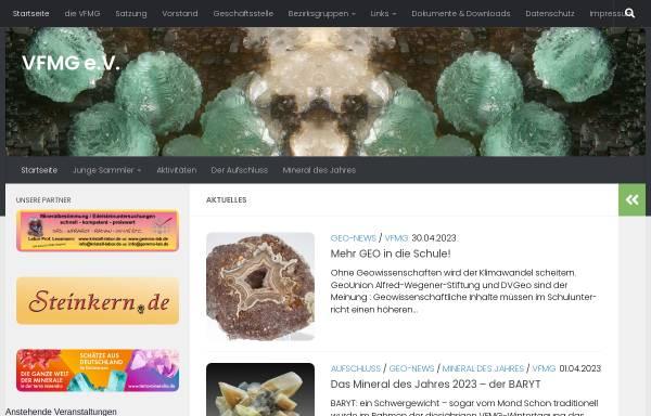 Vorschau von www.vfmg.de, VFMG | Vereinigung der Freunde der Mineralogie und Geologie e.V.
