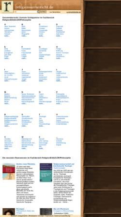 Vorschau der mobilen Webseite lbib.de, religionsunterricht.de