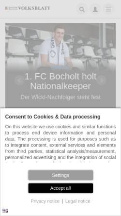 Vorschau der mobilen Webseite www.bbv-net.de, Bocholter-Borkener Volksblatt (BBV)