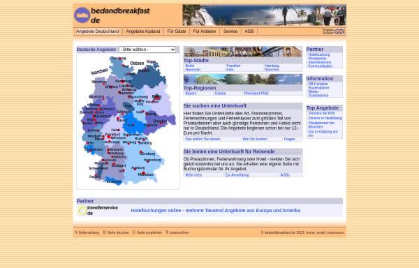Vorschau von www.bedandbreakfast.de, BedAndBreakfast [Cay Hansen]