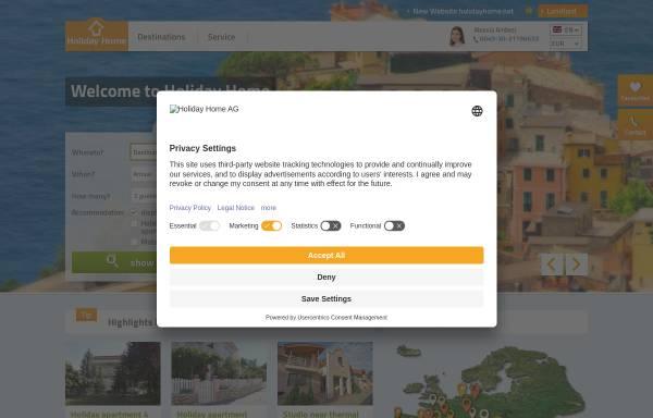 Vorschau von www.holiday-home.org, Holiday-Home, Interholiday AG