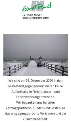 Vorschau der mobilen Webseite eurotrend.de, I.N.