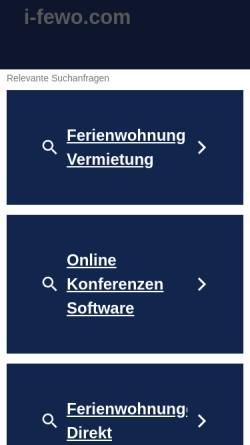 Vorschau der mobilen Webseite www.i-fewo.com, i-fewo [Josef Irmscher]