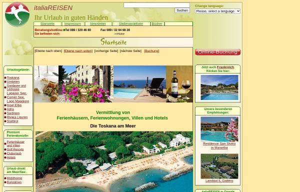 Vorschau von www.italiareisen.de, italiaREISEN [Dr. Peter Wack GmbH]
