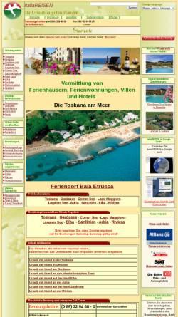 Vorschau der mobilen Webseite www.italiareisen.de, italiaREISEN [Dr. Peter Wack GmbH]