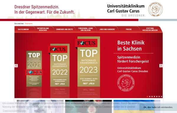 Vorschau von www.uniklinikum-dresden.de, Universitätsklinikum Carl Gustav Carus
