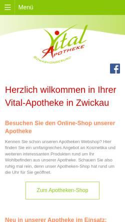 Vorschau der mobilen Webseite www.vitalapotheke.com, Vital-Apotheke e.K.