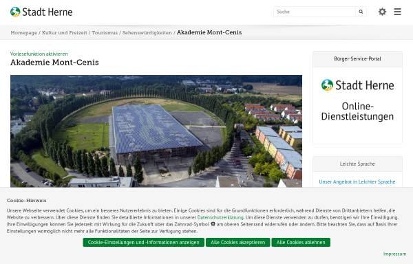 Vorschau von www.herne.de, Akademie Mont-Cenis - Fortbildungsakademie des Innenministeriums NRW