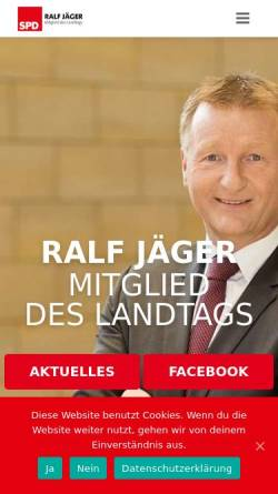 Vorschau der mobilen Webseite ralf-jaeger.de, Jäger, Ralf (MdL)