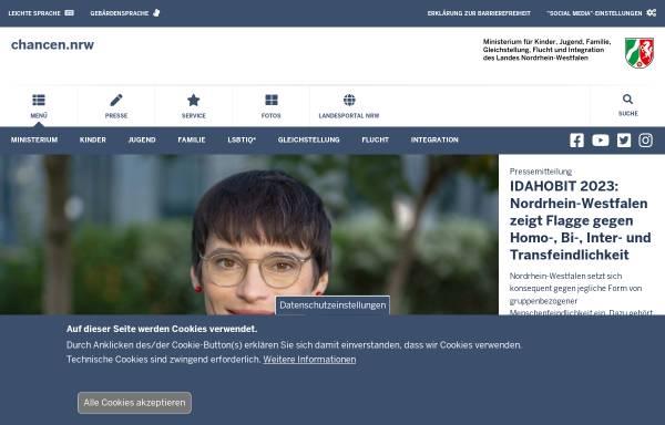 Vorschau von www.mfkjks.nrw.de, Ministerium für Familie, Kinder, Jugend, Kultur und Sport des Landes Nordrhein-Westfalen (MFKJKS NRW)