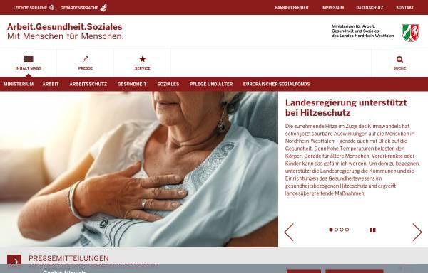 Vorschau von www.mais.nrw.de, Ministerium für Arbeit, Integration und Soziales des Landes Nordrhein-Westfalen (MAIS NRW)