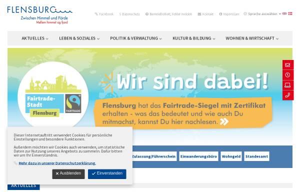 Vorschau von www.flensburg.de, Stadt Flensburg