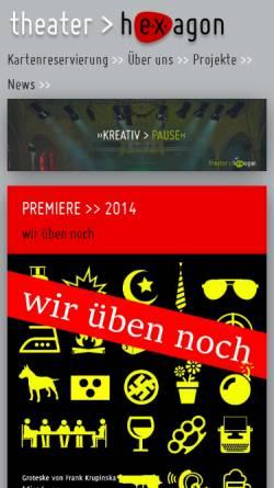 Vorschau der mobilen Webseite theater-hexagon.de, Theater hEXagon Kiel
