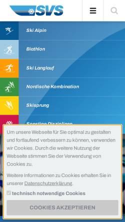 Vorschau der mobilen Webseite www.skiverbandsachsen.de, Landesskiverband Sachsen e. V.