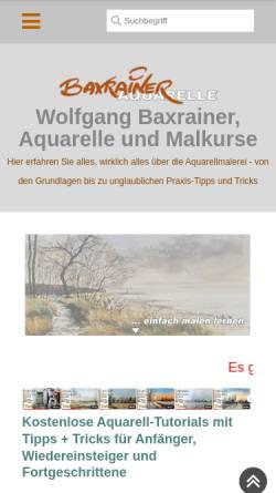 Vorschau der mobilen Webseite www.baxrainer.at, Baxrainer, Wolfgang