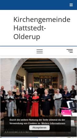 Vorschau der mobilen Webseite kirchengemeinde-hattstedt.de, Kirchengemeinde Hattstedt