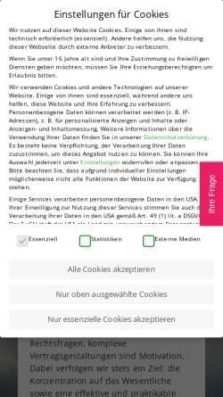 Vorschau der mobilen Webseite staufer.de, Dr. Staufer, Andreas