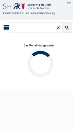 Vorschau der mobilen Webseite www.gesetze-rechtsprechung.sh.juris.de, Sammlung des Schleswig-Holsteinischen Landesrechts